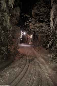 Piste ski éclairée